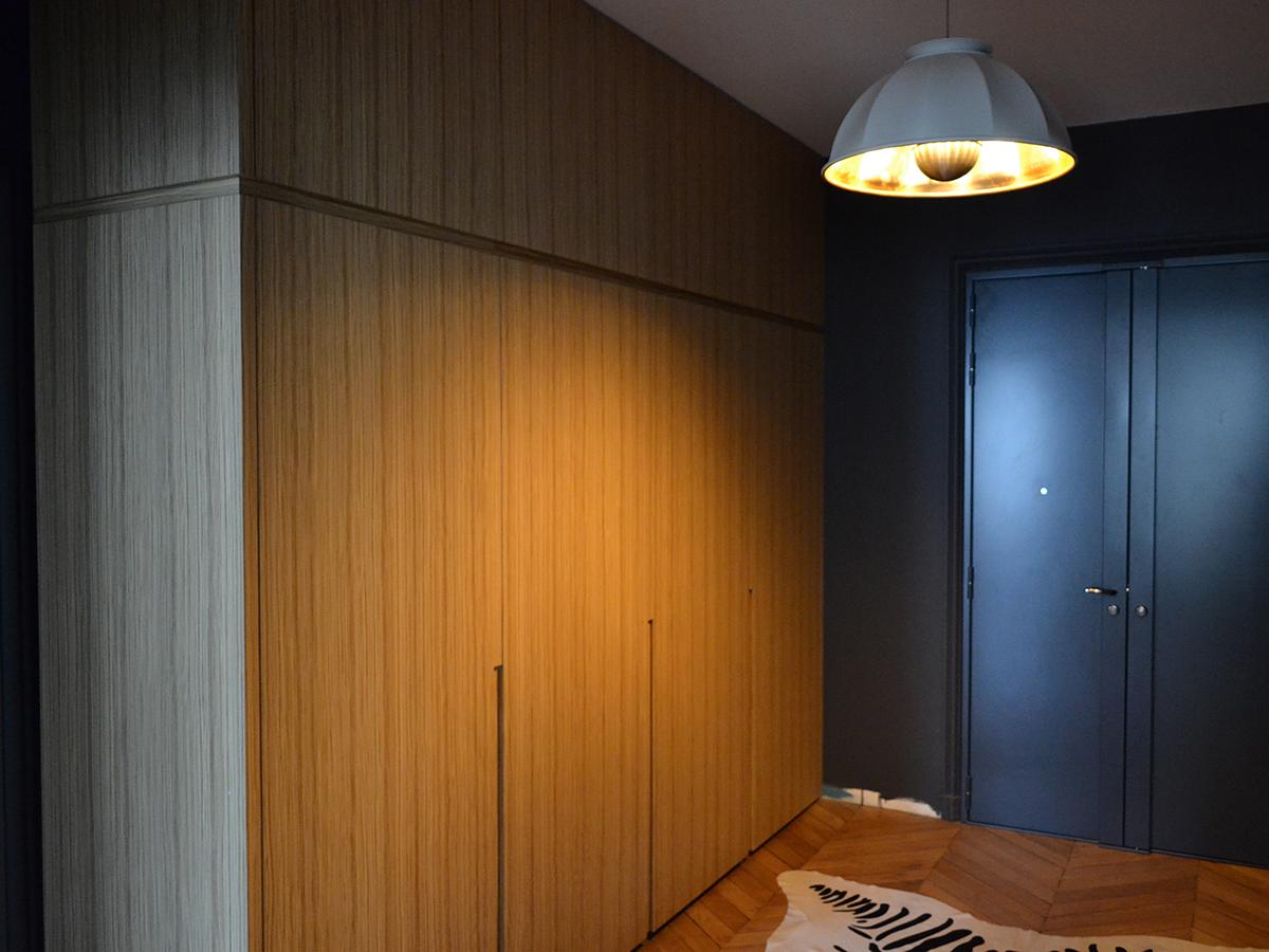 meuble d entr e avec porte d rob e ateliers courtois sp cialiste cuisines bains am nagements. Black Bedroom Furniture Sets. Home Design Ideas