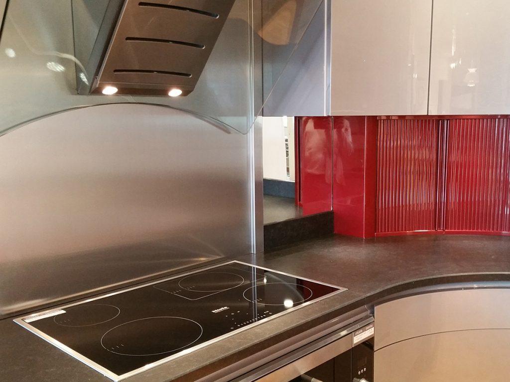 Plan De Travail Bar Arrondi cuisine galaxie rouge arrondie - ateliers courtois